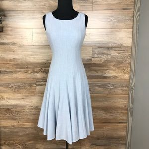 Calvin Klein fit and flare dress size 2 light blue